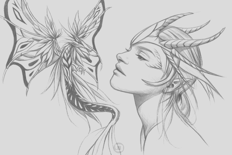 dark fairy coloring pages realistic