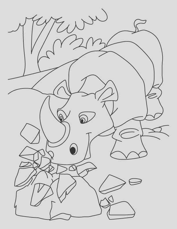 angry rhinoceros coloring pages 1d698