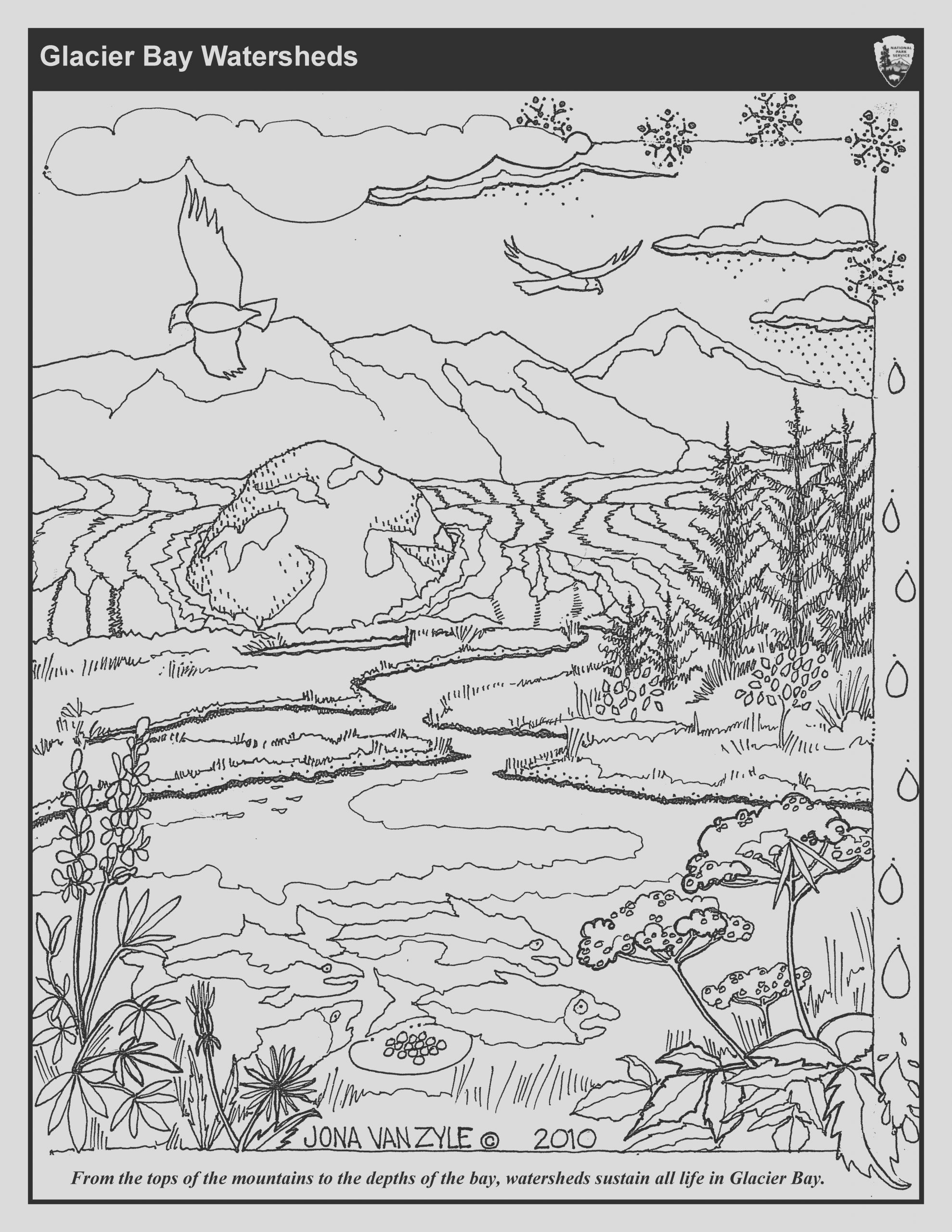 river coloring pages