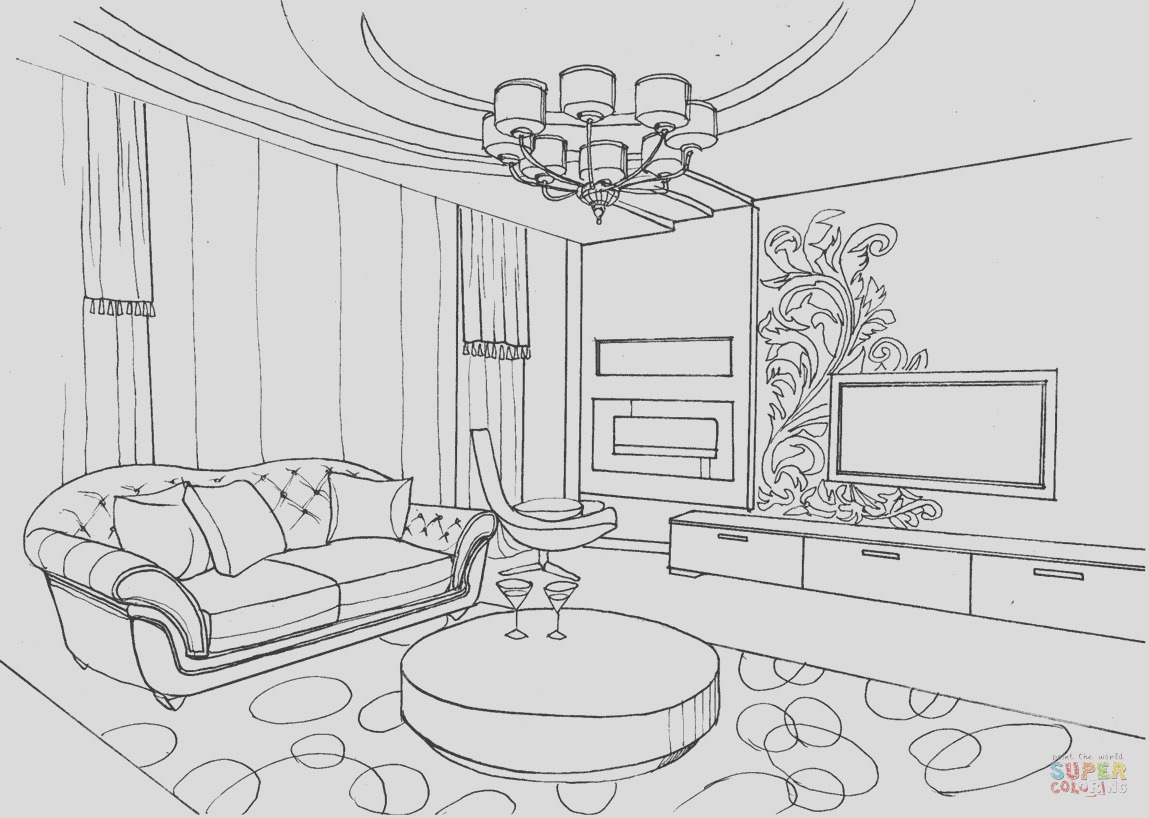 living room with ornament
