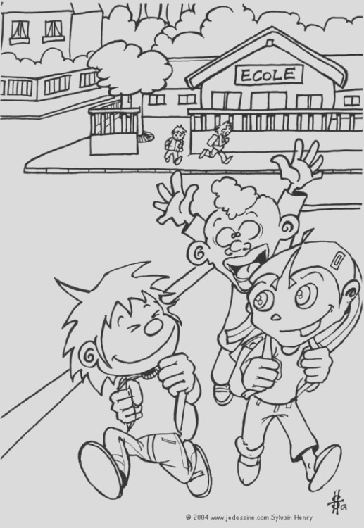coloring page schools out i7332