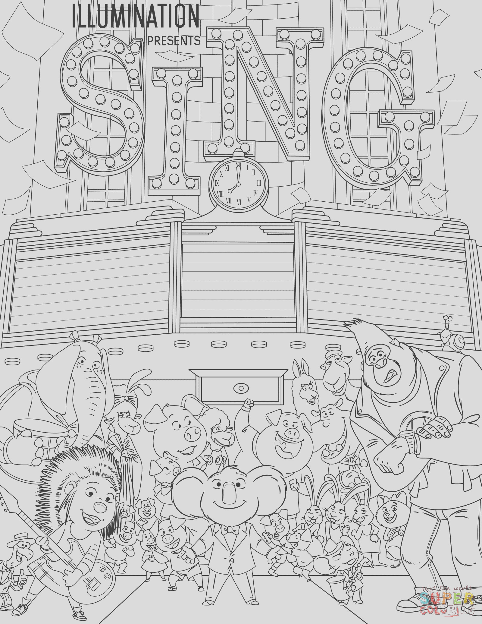 all characters from sing