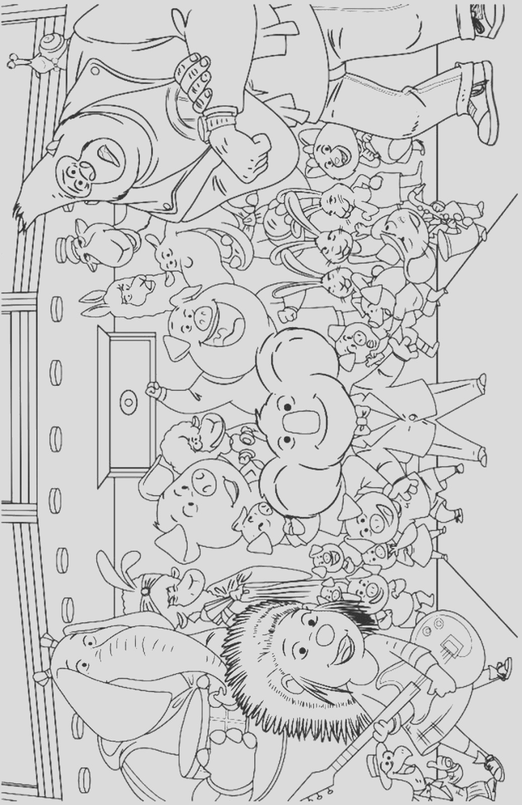 sing movie coloring pages