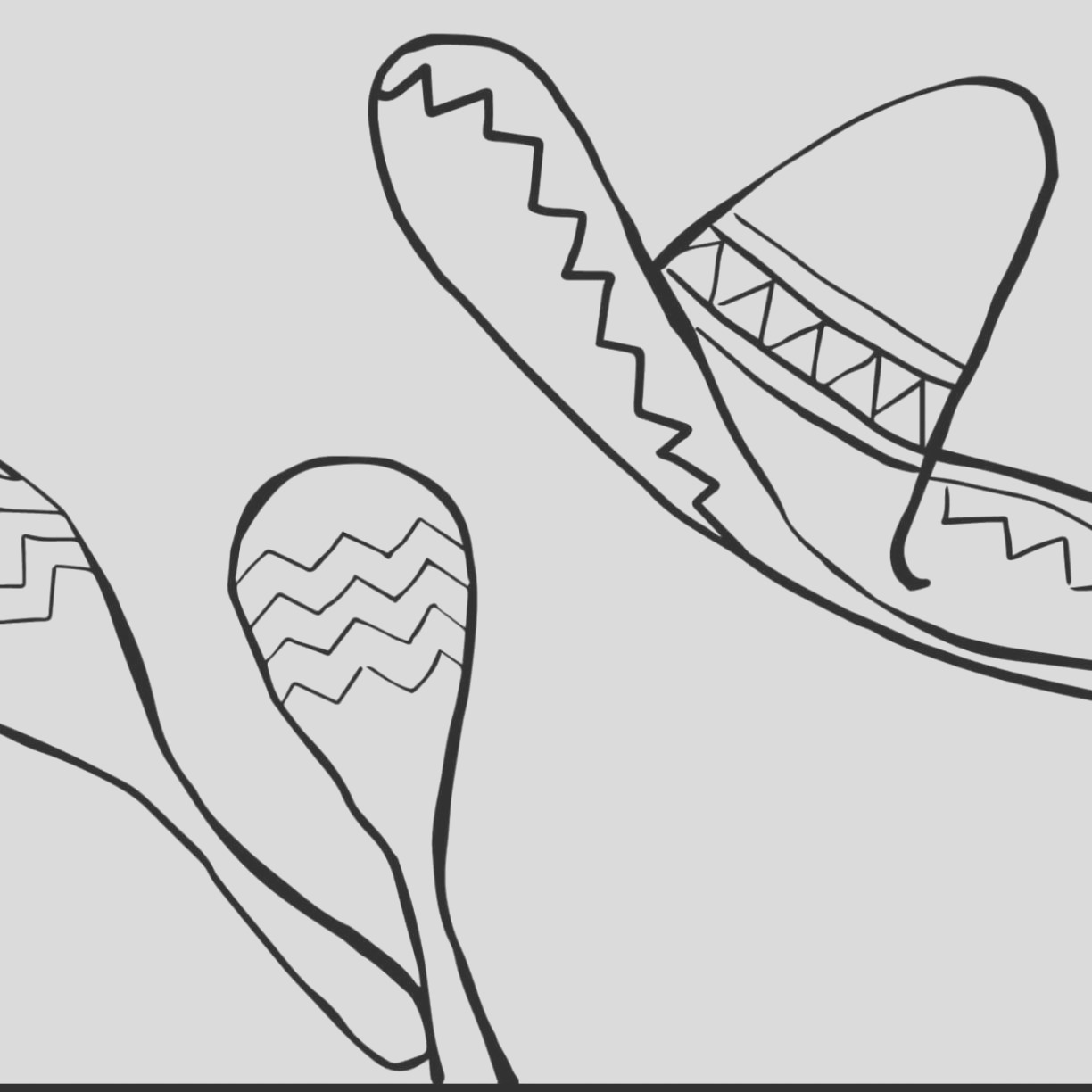 mexican hat drawing