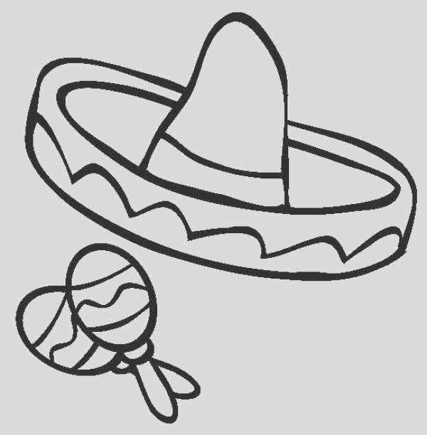 sombrero coloring pages