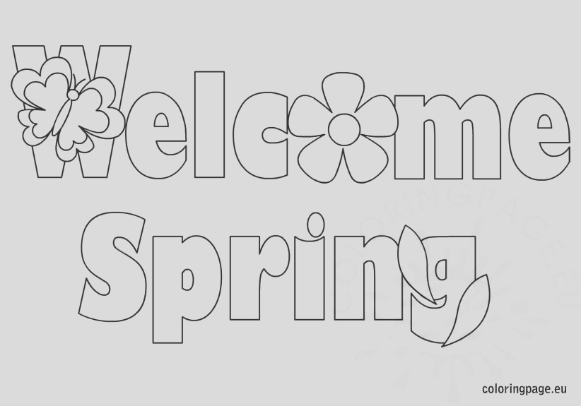 wel e spring coloring page