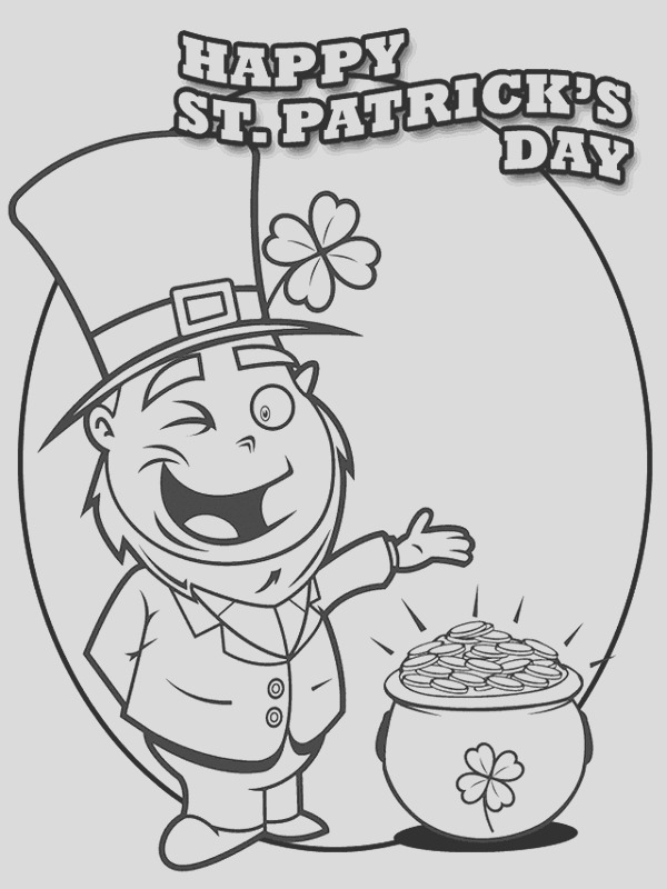printable st patricks day coloring pages for toddlers