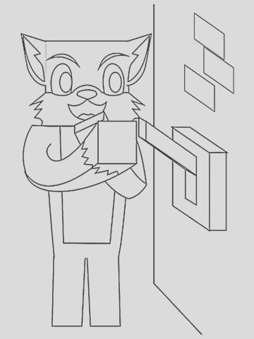 minecraft coloring pages stampy