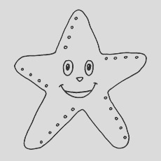 starfish coloring pages for your little ones
