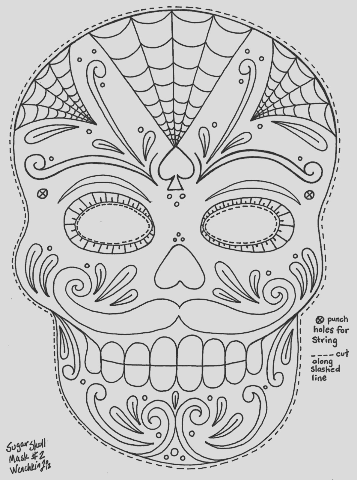 wenchkins coloring pages moustached