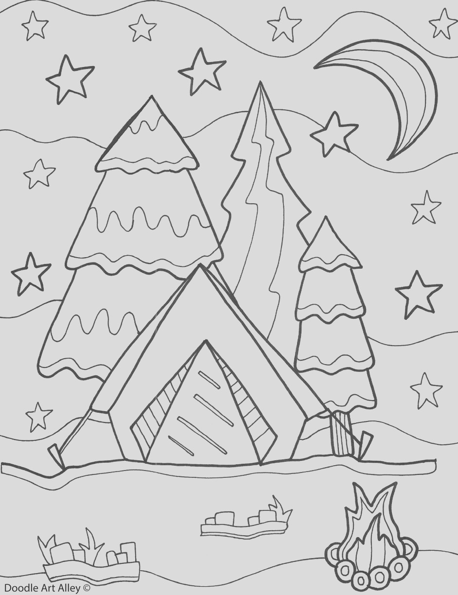 beautiful free printable summer coloring pages for kids