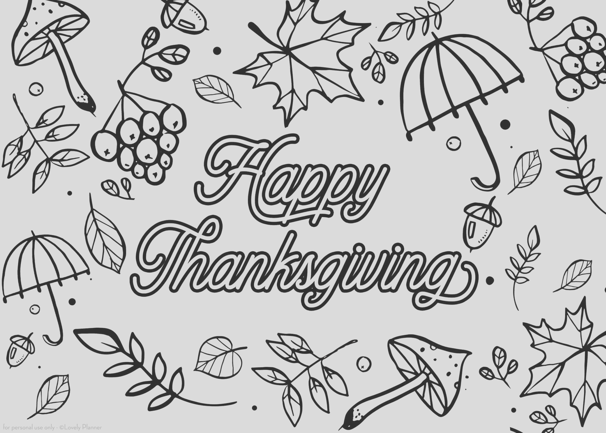 visual 5x7 card thanksgiving coloring card by lovely planner