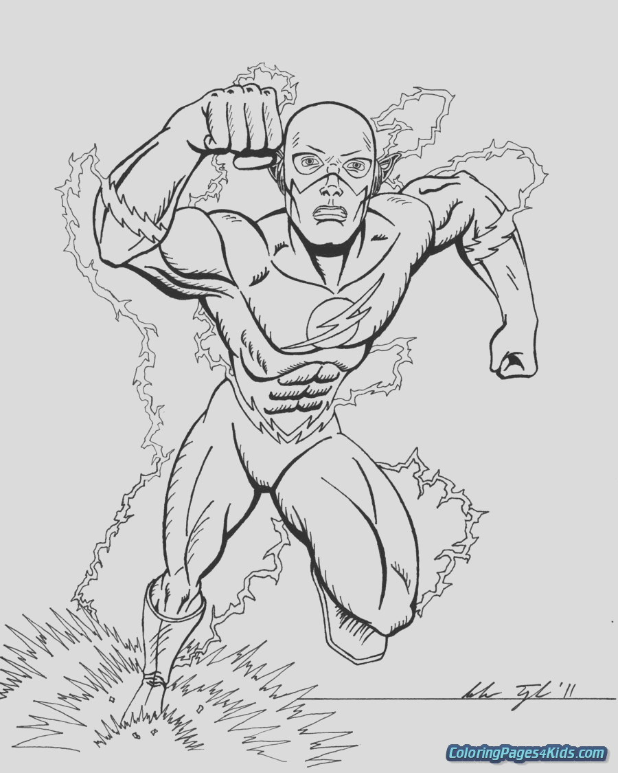 the flash coloring pages 26