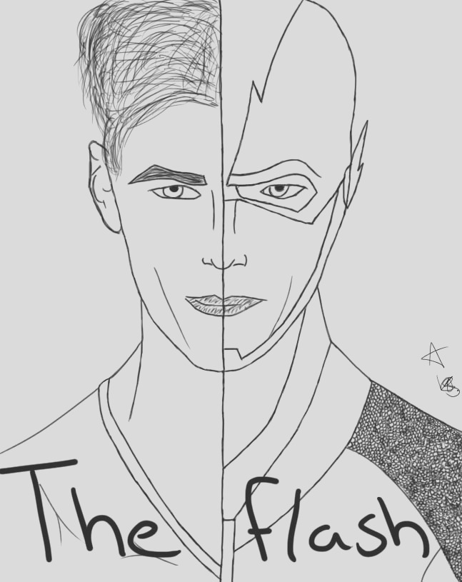 cw barry allen coloring pages sketch templates