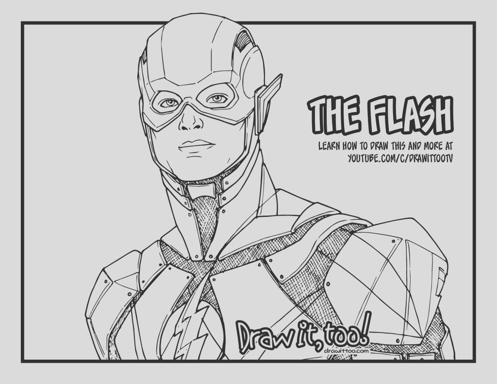 draw flash justice league drawing tutorial