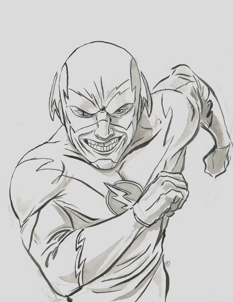 the flash cw coloring sketch templates