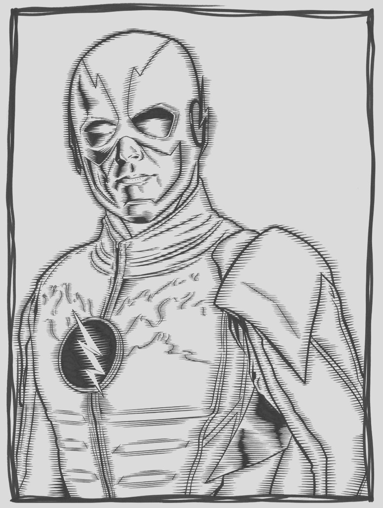 cw reverse flash pages sketch templates