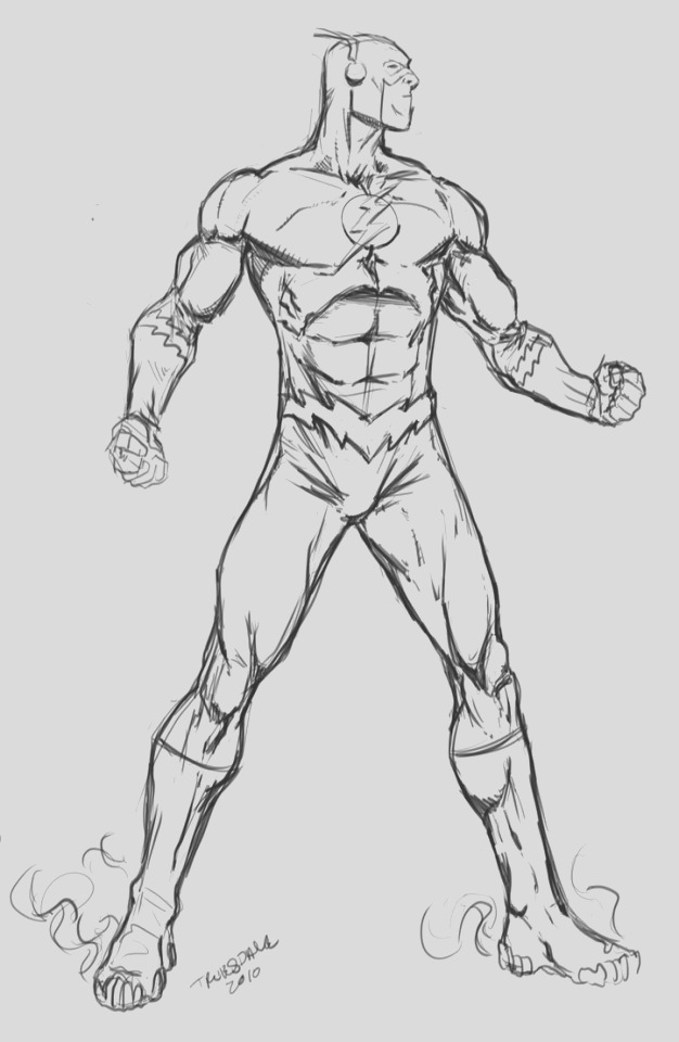 flash cw zoom coloring page