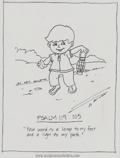 psalm 119 105 coloring sheet sketch templates