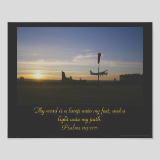psalm 119 105 posters