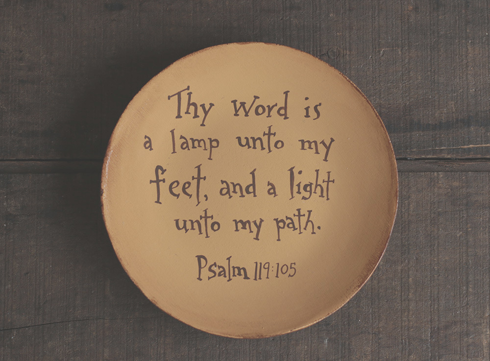 thy word is a lamp unto my feet plate