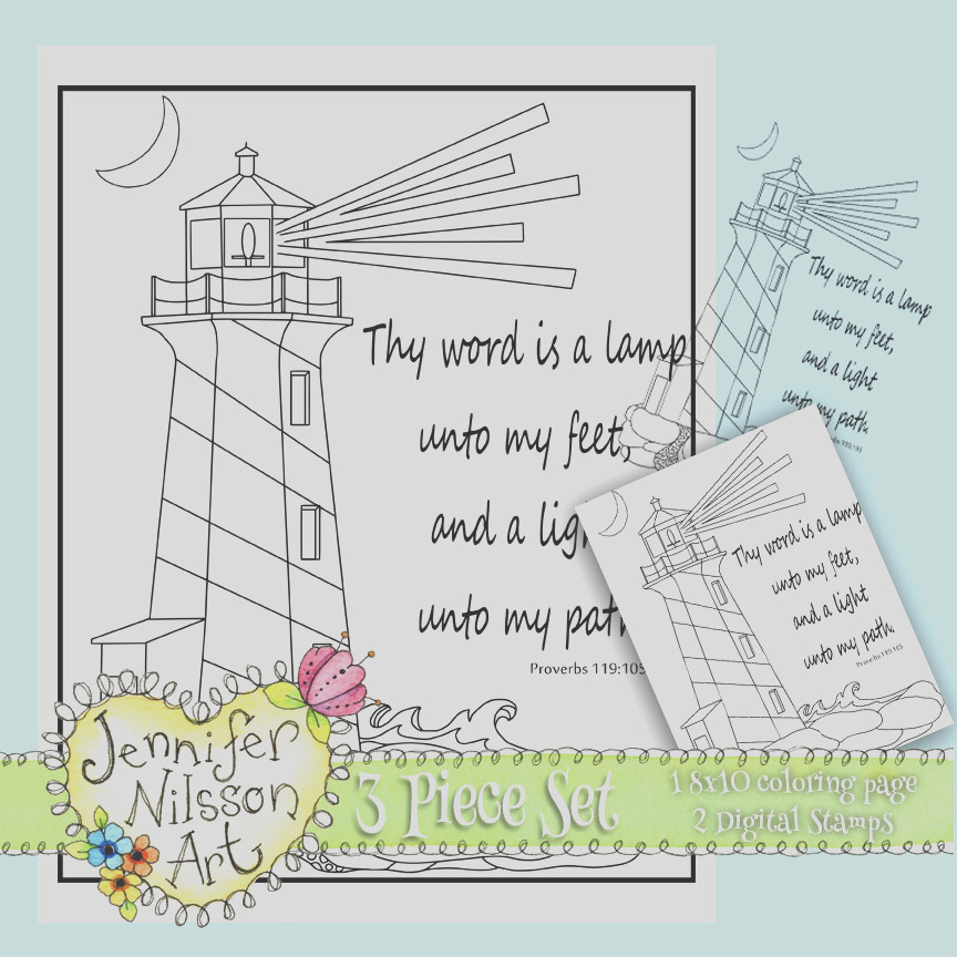 thy word lighthouse proverbs 119 105 set