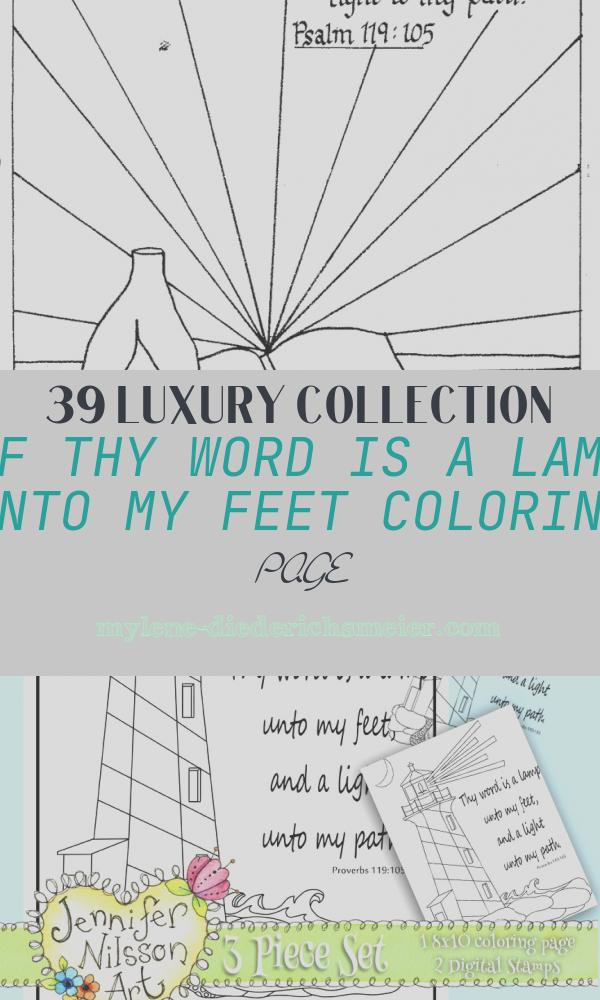 Thy Word is A Lamp Unto My Feet Coloring Page Luxury Bible
