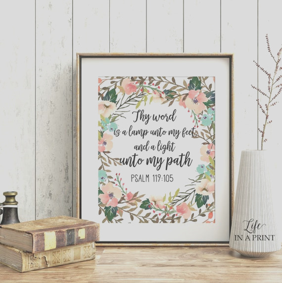 printable floral thy word is a lamp unto