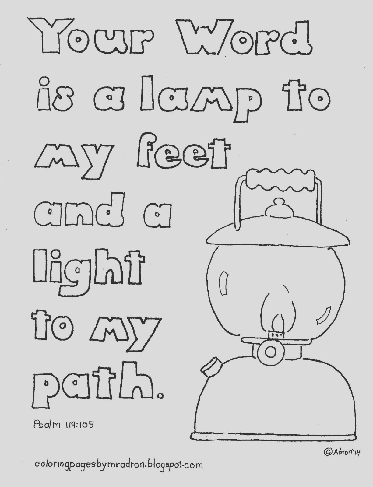 your word is lamp unto my feet coloring