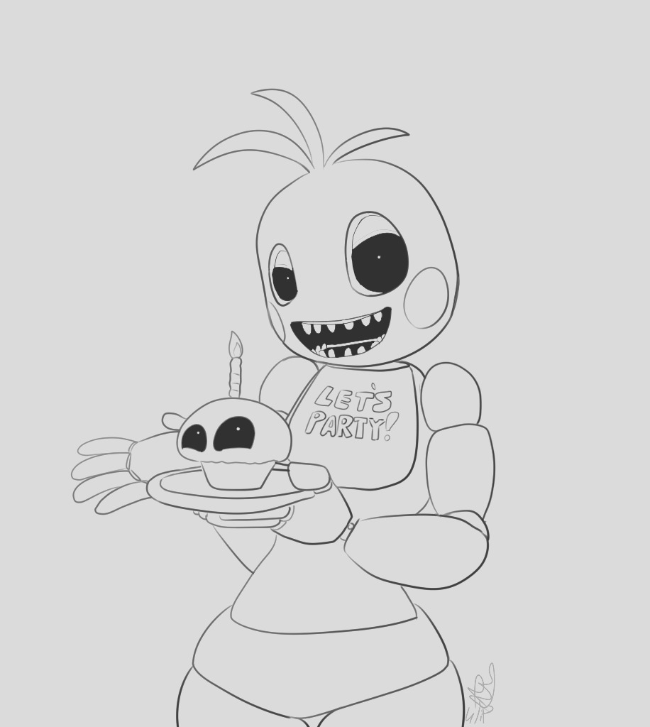 toy chica coloring sketch templates
