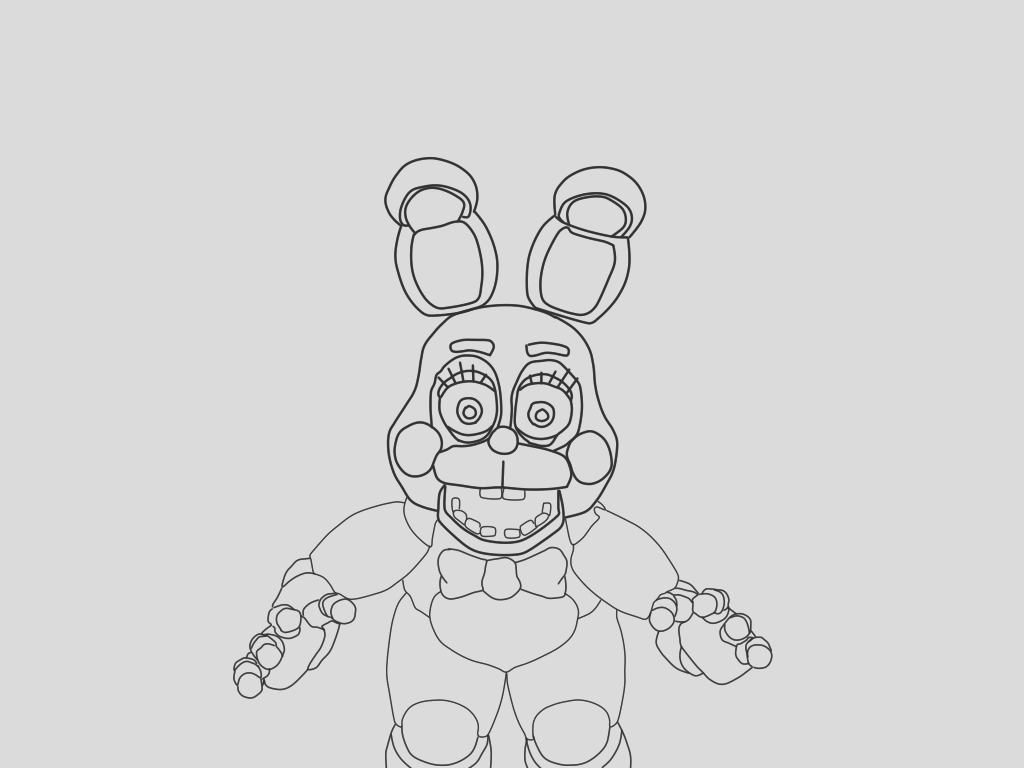 toy chica sketch templates