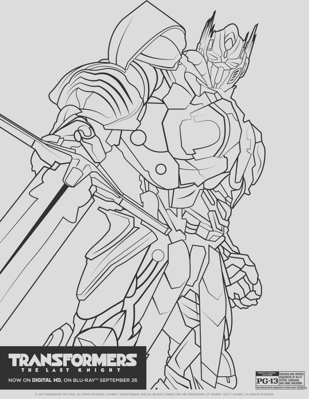 transformers last knight coloring pages