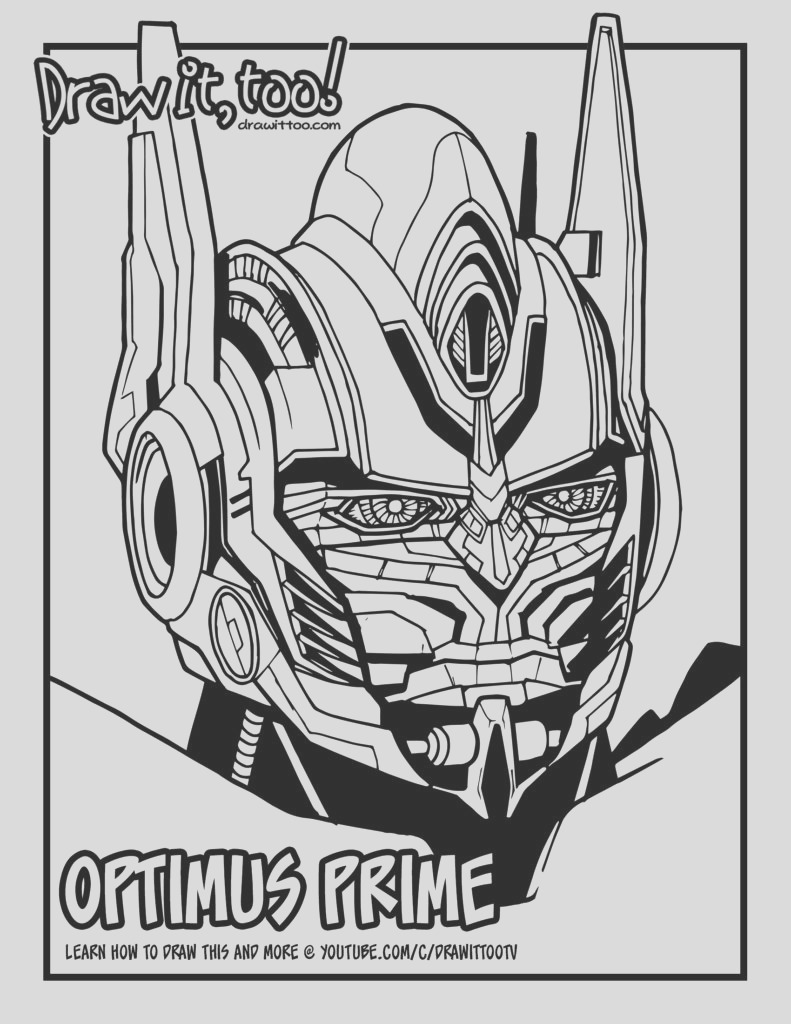how to draw optimus prime transformers movie franchise narrated easy step by step tutorial