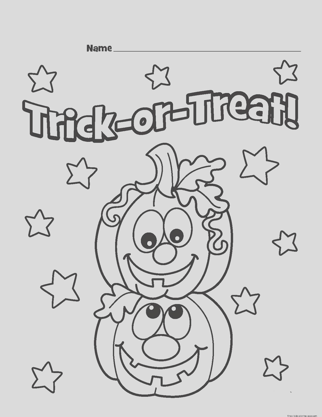 halloween 2017 trick or treat coloring pages kids adults