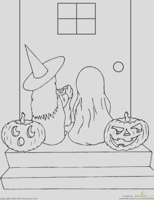 Color the Trick Treaters