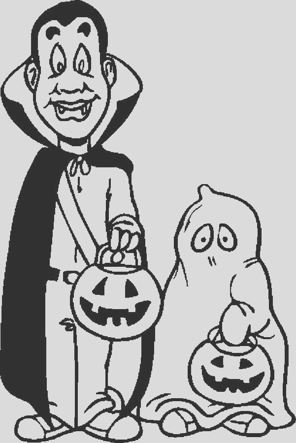 trick or treat coloring pages