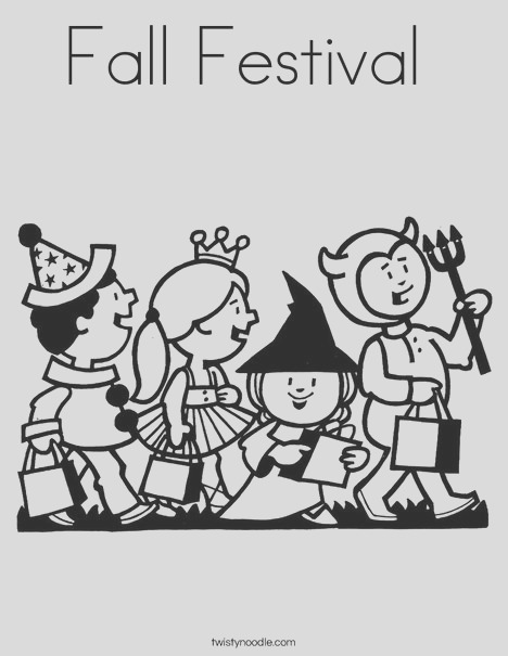 fall festival 7 coloring page