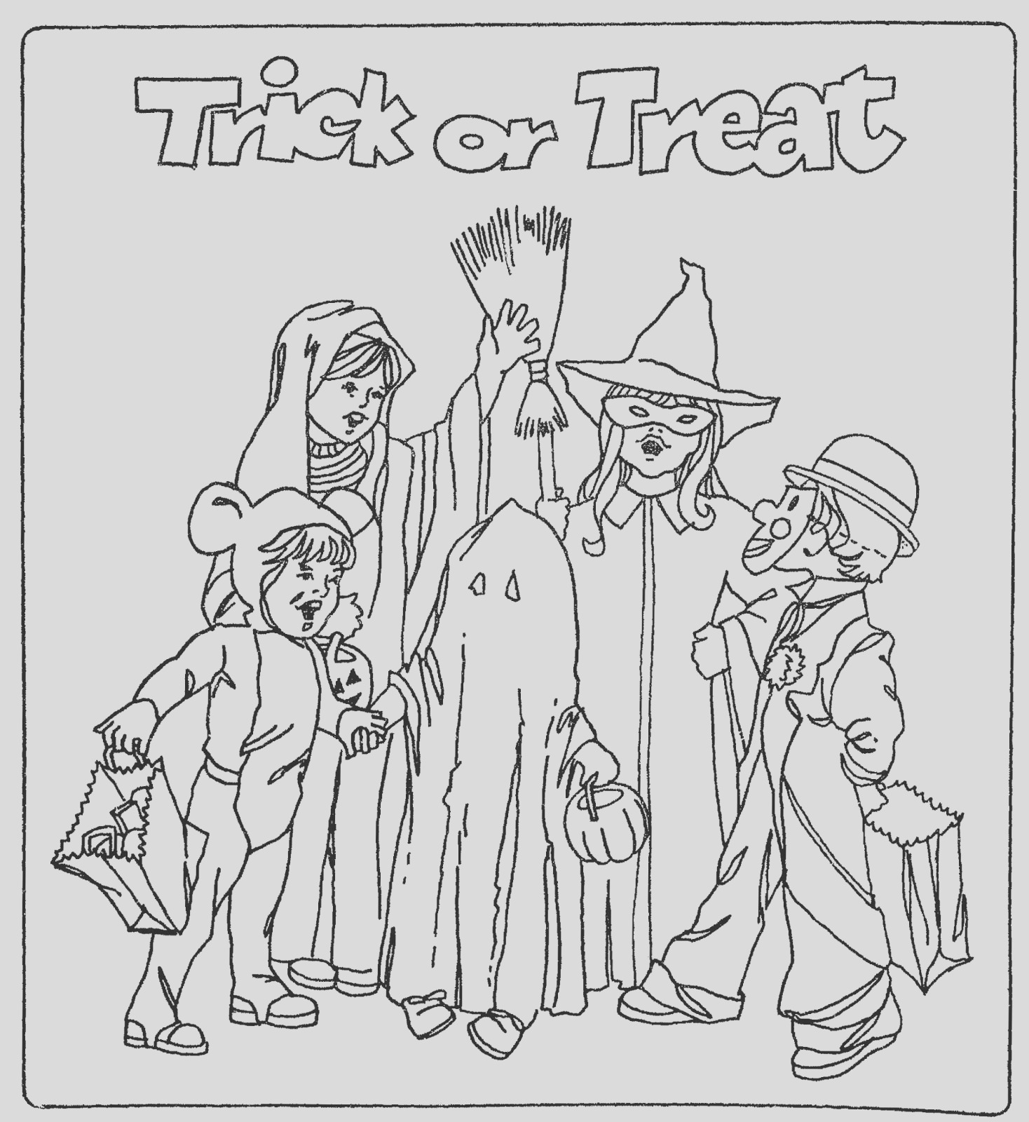 color this trick or treat page