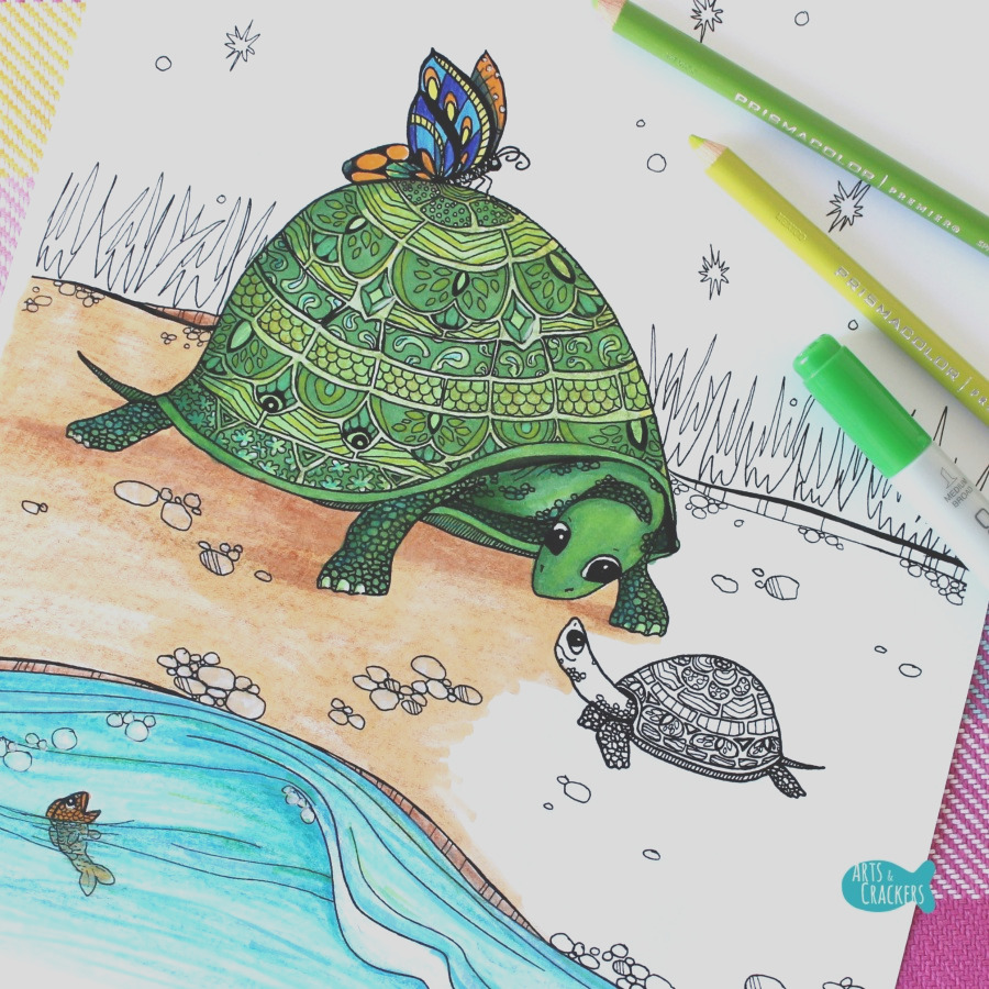 to her turtle coloring page