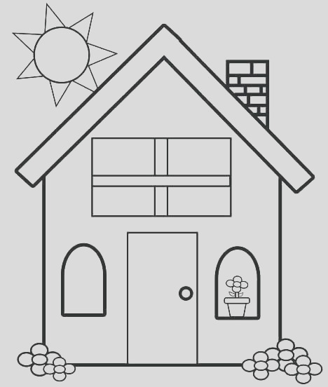up house coloring pages