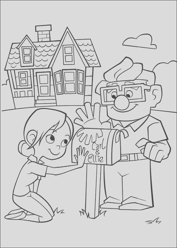 kleurplaten up coloring pages free printable for kids art activity sheet to color 4