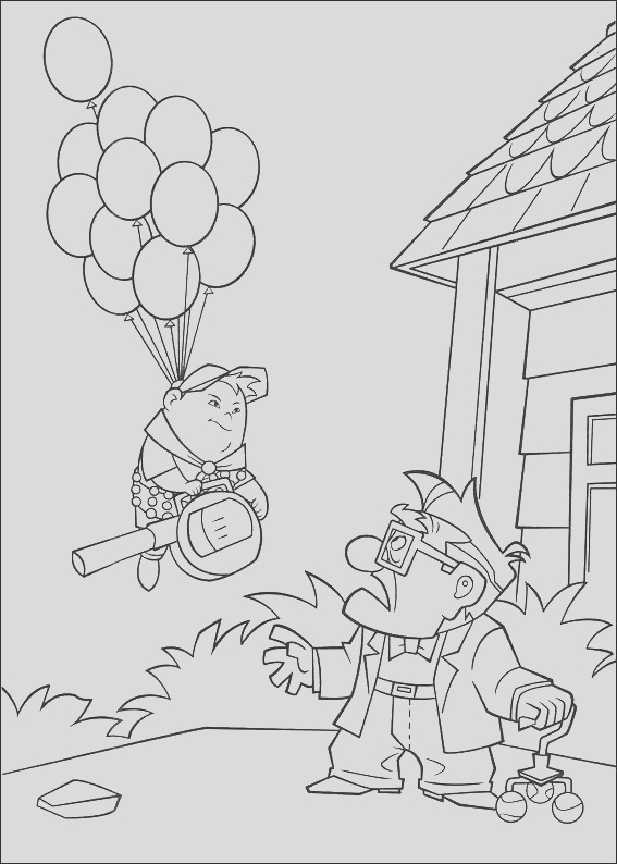 kleurplaten up coloring pages free printable for kids art activity sheet to color 7
