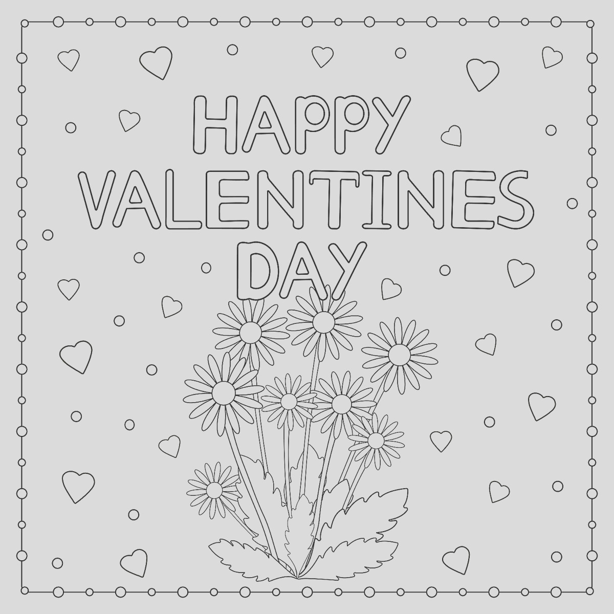 Valentines Day Coloring Pages Heart Love Themed Coloring Pages for Kids Adults