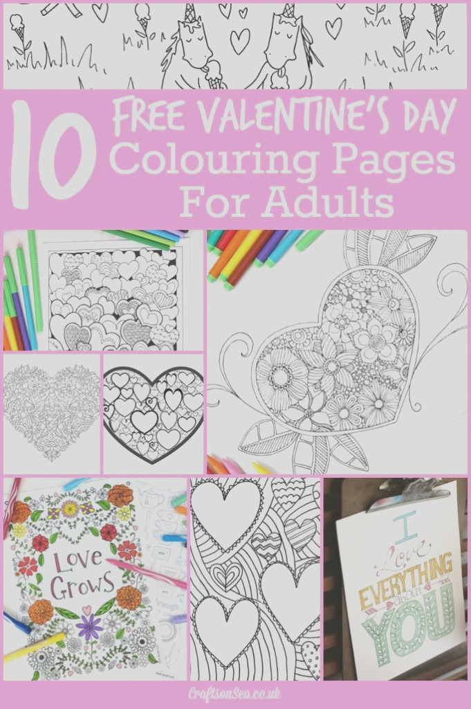 10 free valentines day adult coloring pages