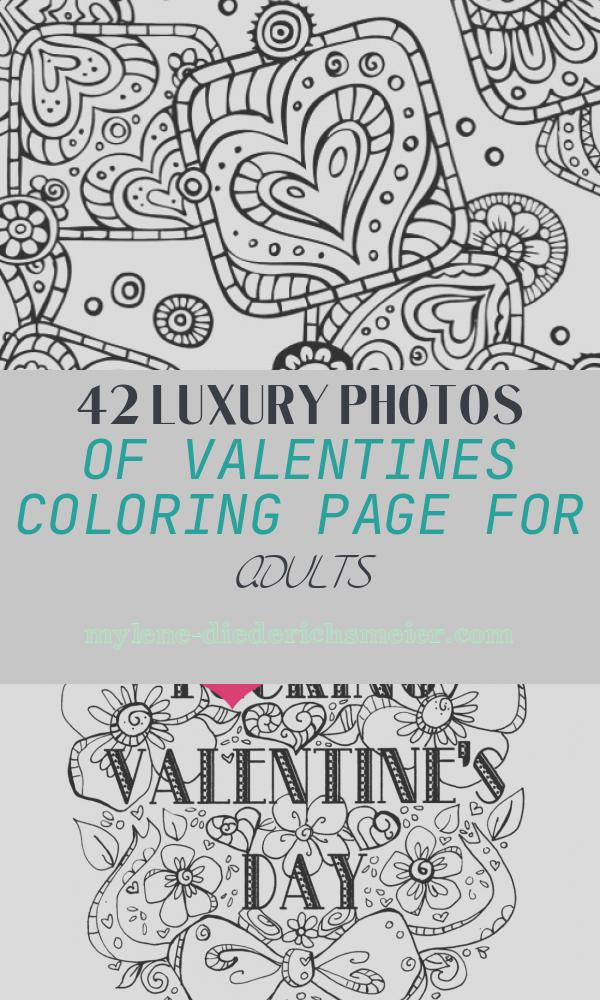 Valentines Coloring Page for Adults Inspirational Valentines Day Coloring Pages for Adults Best Coloring