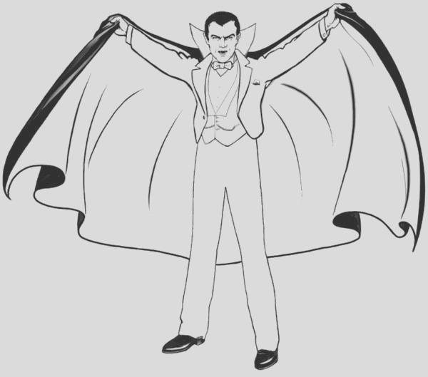 blood suckers vampire coloring pages