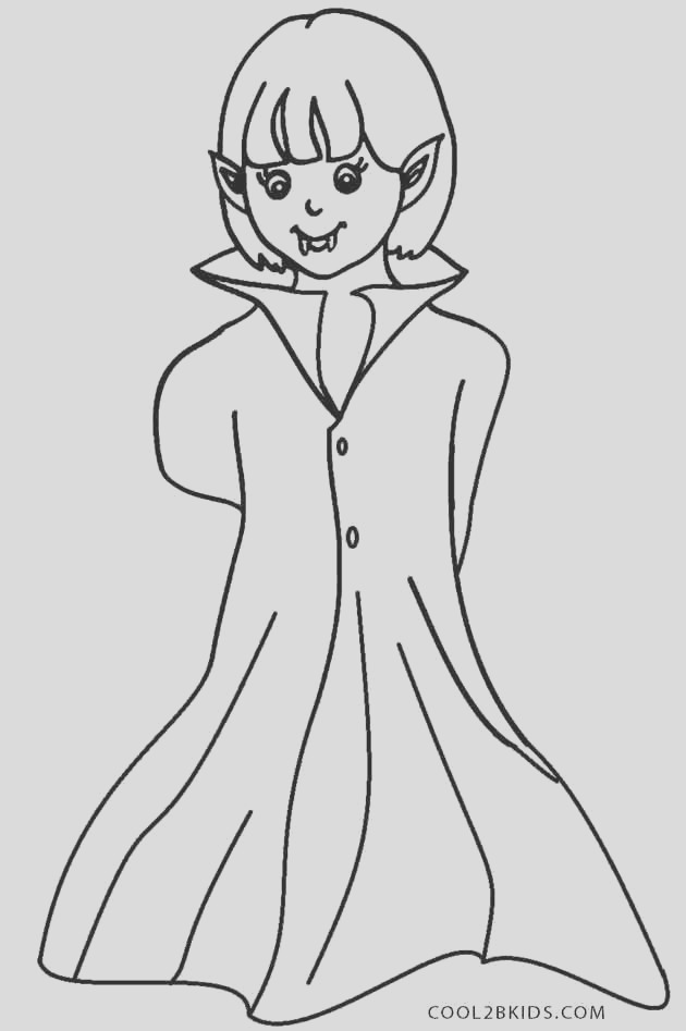 vampire coloring pages