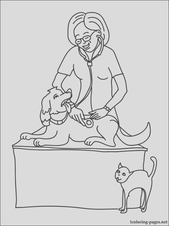 veterinary physician coloring page
