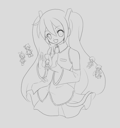 vocaloid kaito coloring pages sketch templates