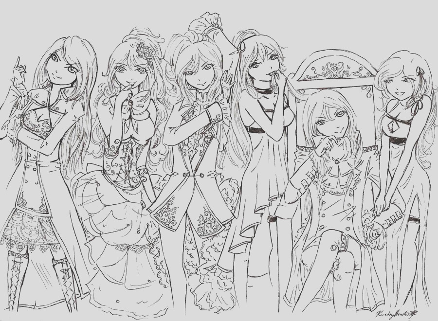 Dawn Vocaloid Outfits Lineart